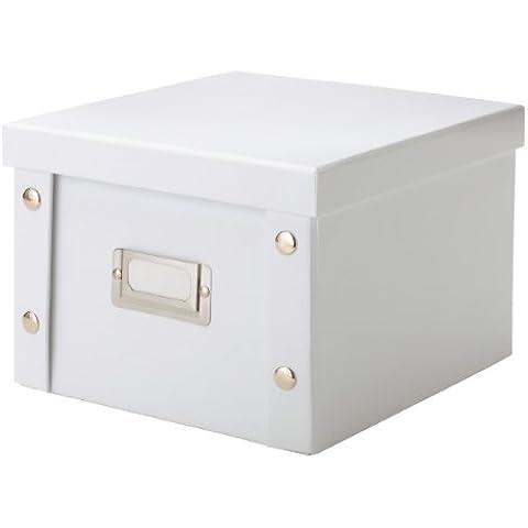 Zeller 17761 - Caja de cartón para DVD (21,5 x 20,5 x 15 cm), color blanco