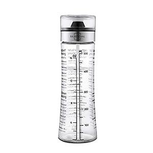 SILBERTHAL Dressingshaker aus Glas mit Rezepten - 500 ml - Spülmaschinenfest - Neuer Deckel