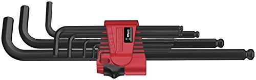 Preisvergleich Produktbild Wera 950 PKL/9 BM N Winkelschlüsselsatz, metrisch, BlackLaser, 9-teilig, 05022086001