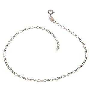 Fußkette (Rundanker) – 2,3mm Breite – Länge Wählbar 23-30cm – Echt 925 Silber