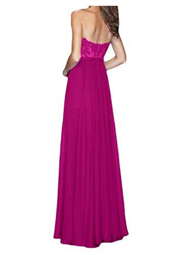 Toscana sposa incantesimo antiaderente a forma di cuore applicazione sera vestiti lunghi Chiffon damigella Party Ball vestiti Viola