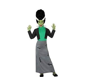 Atosa-55647 Atosa-55647-Disfraz Monstruo para niña Infantil-Talla, Color verde, 7 a 9 años (55647