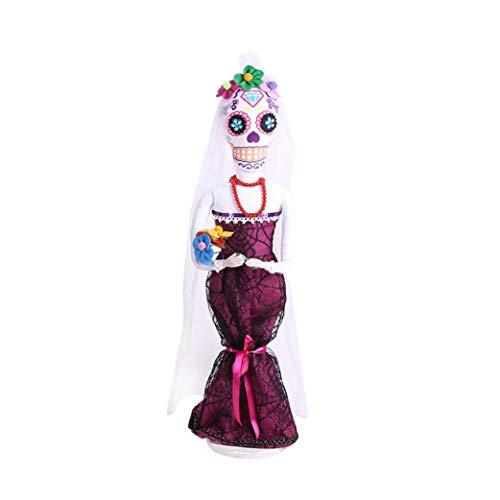 LCLrute Halloween-Braut-Schädel-Dekorative Verzierungs-Halloween-Bräutigam-Hexe Requisiten-Dekorative Stützen -