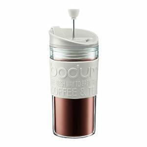 BODUM Travel Press Set Coffee Maker with Extra Lid, 0.35 L/12 oz