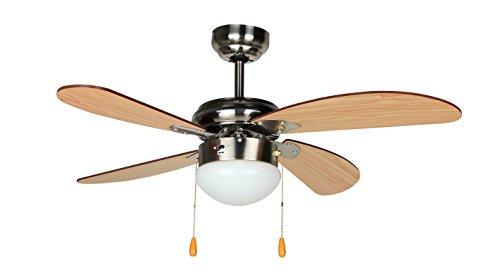 Orbegozo CP 70095 Ventilador de Techo, Madera y níquel