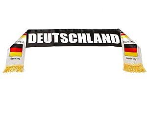 Atosa-24591 Atosa-24591-Bufanda Alemania Deutschland 14X130 cm-Mundial De Fútbol Y Deportes, Color Amarillo, Rojo y Negro (24591)