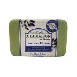 A La Maison Bar Soap Lavender Flowers - 8.8 oz - Pack of 1 by A La Maison - Flower Soap Bar Seife