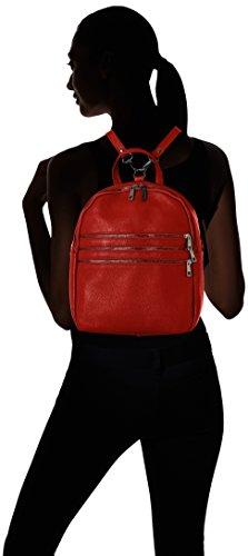 Chicca Borse 8702 1, Borsa a Zainetto Donna, 28x32x15 cm (W x H x L) Rosso