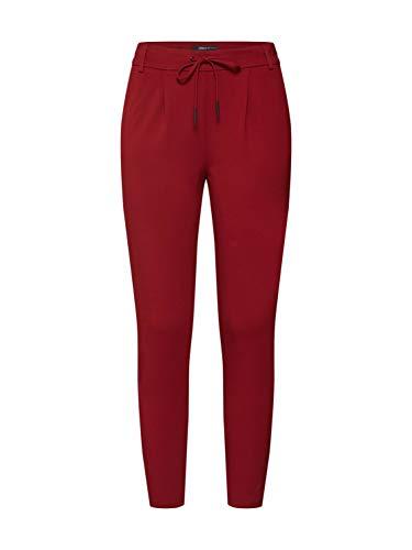 ONLY NOS Damen ONLPOPTRASH Easy Colour Pant PNT NOOS Hose, per Pack Rot (Merlot Merlot), W/L30(Herstellergröße: XL)