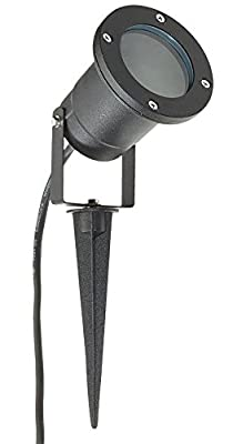 GU10 Outdoor Garden Spike Ground Mount or Wall Light IP65 Matt Black 2 Metre Cable - low-cost UK light shop.