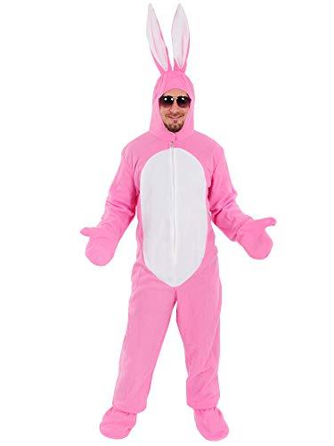 Hase rosa offen Kostüm Einheitsgrösse XXL Erwachsene Herren Damen Fasching Karneval Festival (Osterhasen Kostüm Für Erwachsene)