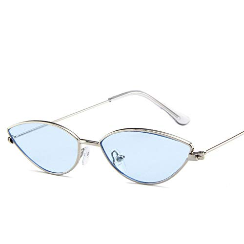 WTACK Klar Festival Katze Frauen Männer Auge SonnenbrilleVintageSpiegel Objektiv Mädchen Mode Small Oval