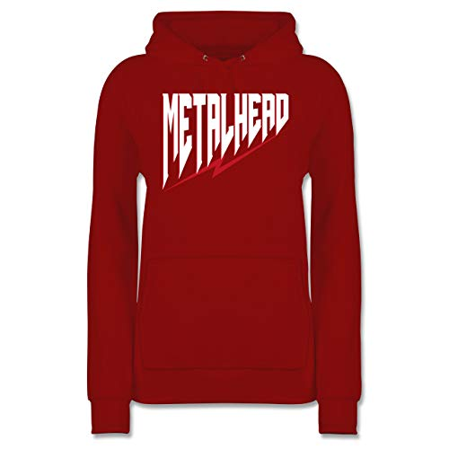 Shirtracer Festival - Metalhead - S - Rot - JH001F - Damen Hoodie (Ideen 2019 Party Outfit)