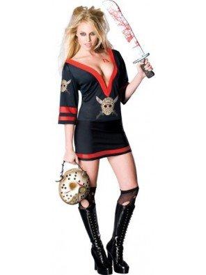 Kostüm Jason Sexy - sexy Miss Voorhees 'Freitag der 13te' Kostüm für Damen Gr. XS-L, Größe:M