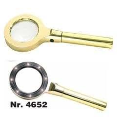 SAFE moderne lennox loupe loupe avec 8 x 2.5 x lED loupe grossissement :  2,5x/55 mm 2 niveaux avec niveaux-lED-piles et étui de protection no 4652