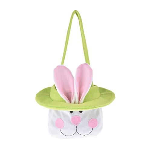 Sacchetto di caramelle con coniglietto pasquale coniglietti di coniglio carino confezioni per le mani di cibo copertine di pasqua cartone animato lungo orecchie da coniglio increspature borse a mano