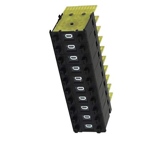 Aexit 10 Unids KM1 0-9 Interruptores Botón Codificación