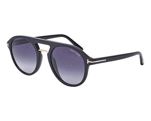 Tom Ford Sonnenbrillen Ivan 02 (TF-675 01W) schwarz glänzend - gold - blau-grau verlaufend