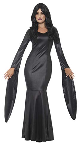Smiffy'S 48018M Disfraz De Vampiresa Inmortal Con Vestido Con Efecto Mojado, Negro, M - Eu Tamaño 40-42