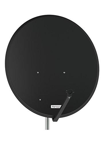Opticum - Antenna parabolica satellitare da 80 cm, in alluminio, LH-80, FullHD HDTV, colorre: Grigio antracite