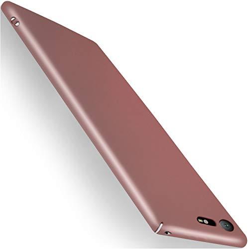 moex Sony Xperia X Compact | Hülle Rose-Gold Alpha Back-Cover TPU Schutzhülle Dünn Handyhülle für Sony Xperia X Compact/X Mini Case Ultra-Slim Thin Skin Handy Schutz Rückseite