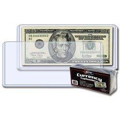50 BCW Rigid Dollar Currency Sleeve Holder HIGH IMPACT RIGID PVC CASES by BCW