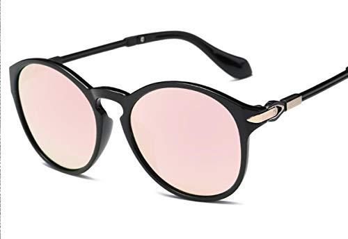 Qiyami Sonnenbrille Damen Runde Verspiegelt Sonnenbrille Cool Mädchen Must-Have Kleine Ovale Rahmen Brille Frauen Fashion Outdoor Sport