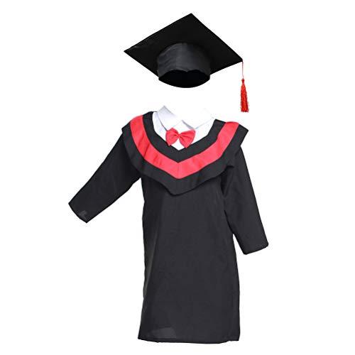 Amosfun Kinder Abschlusskappe und -Kleid für Kinder von 110 cm Höhe (rote ()