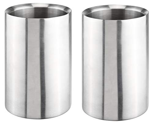 Bambelaa! Weinkühler Sektkühler Flaschenkühler doppelwandig (Edelstahl, 2 Stück)