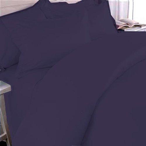 300TC ägyptische Baumwolle (SOLID Pflaume Bettbezug SET von MARRIKAS - Baumwolle Ägyptische Hotel Sham