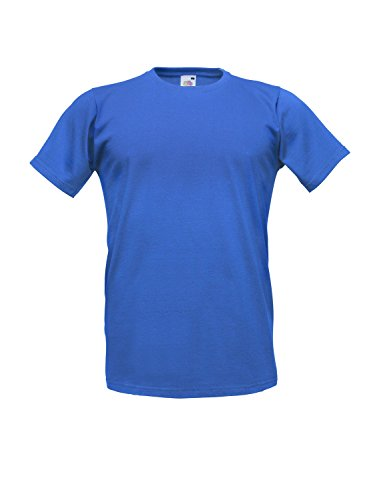 F213 Fitted Valueweight T Royal Blue