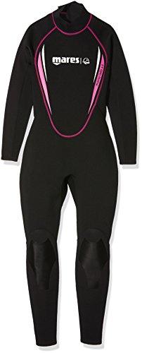 Mares Damen Tauchanzug Steamer Manta, schwarz (Black/Pink), 412529S5, Gr. 42 (Herstellergröße:S5)