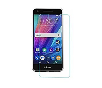 INFOCUS M812i Protective 2.5D Curved 0.3mm Pro 9H Hardness Toughened Tempered Glass Screen Guard Protector For Infocus M812i - BY MJ CREATION