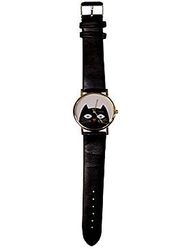 Armbanduhr mit lustiger Katze
