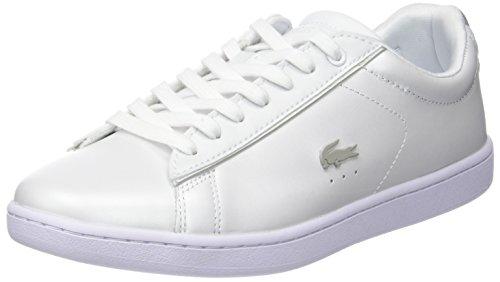 Lacoste Damen Carnaby Evo 118 6 SPW Sneaker, Weiß (Wht/lt Gry), 37 EU