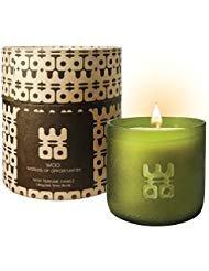 Collection de bougies porte-bonheur WOO | Bougie d'aromathérapie en cire d'abeille écologique, format Grande, fabriquée à la main, dans la Boîte-cadeau Exquise | Parfum anti-stress Tranquility | Chèvrefeuille, cardamome et un soupçon d'agrumes | 50 heures