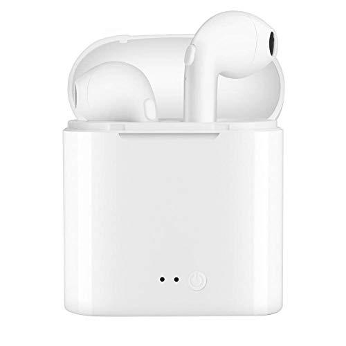 Bryett Écouteurs Bluetooth, écouteur Mini de Sport sans Fil/écouteurs stéréo écouteurs Anti-Transpiration avec Suppression du Bruit et Cas de Charge Fit pour Android iOS Smartphones-Blanc