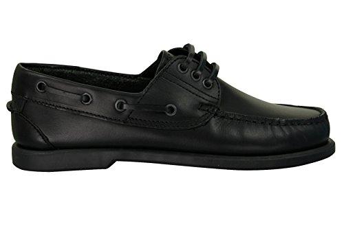 Herren Mokassin-Brett/Deck, Boat Shoes Leder mit Dek Schwarz