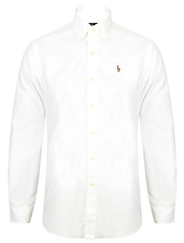 4cc6ee063f0d22 POLO Ralph Lauren Mens Oxford Shirt Blue White Pink Standard Fit (X-Large,