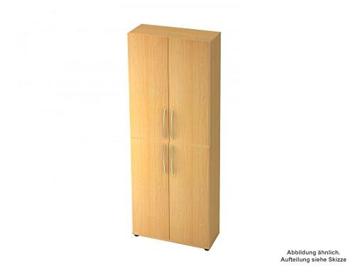 Büro-Schrank-Wandsystem DR-Büro Otara - Schrankelement 2 x 3 Ordnerhöhen - Maße 80 x 33 x 228,8...