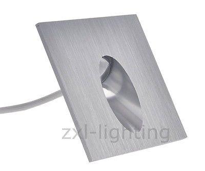10er SET LED Wand Treppenbeleuchtung Treppenlicht 1w Einbaustrahler Treppenlicht Weiß