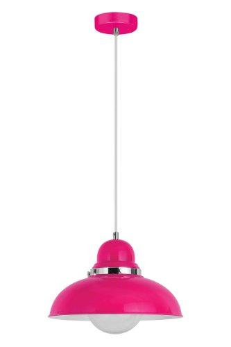 premier-housewares-hangeleuchte-edison-screw-e27-40-w-chrom-hot-pink