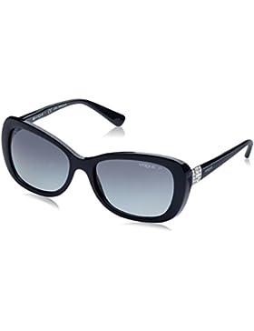 Vogue Eyewear W44/T3 - Gafa de sol mariposa color negro con lentes color gris polarizadas, 55 mm