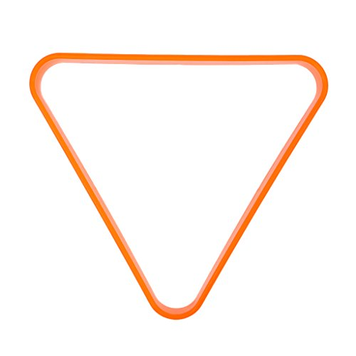 perfk Billard Snooker Dreieck Rack Triangel Billardtisch Zubehör - für 57,2mm Kugeln - Orange
