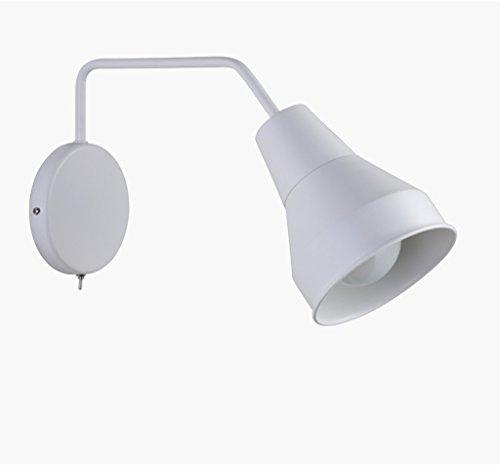 ZHYXZ Applique Spiral Design Crazeable avec Une Petite Lampe de Chevet Applique de Lecture Applique de Hall d'entrée Bureau d'étude à l'ombre du Plan arrière,Blanc