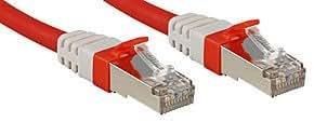 Lindy Câble réseau patch cat.6 (A) S/FTP PIMF Premium, cuivre, 10 Gbit, 500Mhz, LSOH, rouge, 3m