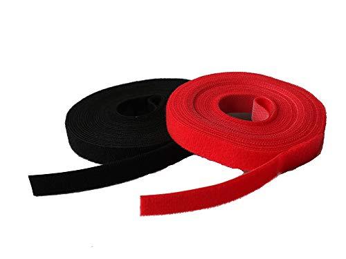 Febbya Serres Câbles,Attaches de Câble Réutilisable Réglable Collier de Serrage pour Ordinateur Portable TV Appareils Electriques 2 Pack 5M*15mm Nylon