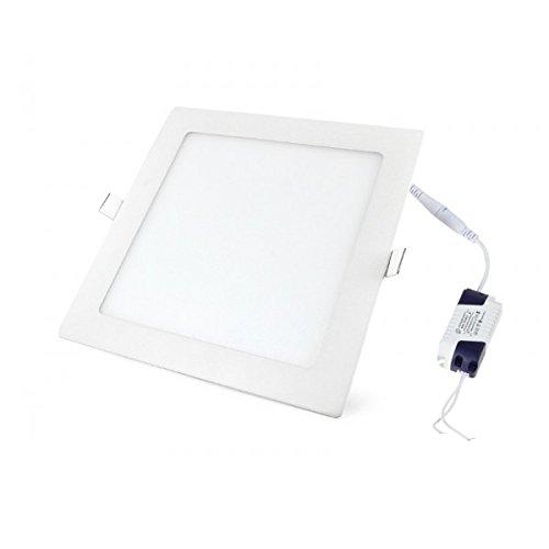 LED Panel, LED Deckenleuchte 24W Quadratisch LED PANEL 1900LM + Transformator, Warmweiss 3000K 230V (24W WW)