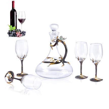 Juan bohorquez Weinkaraffe Kristallglas Weinkaraffe Kreatives Fünfteiliges Set Set Weinzubehör Bar Weingut Schmetterling Design Weinkaraffe