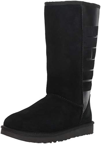 UGG® Classic Tall Rubber Damen Stiefel Schwarz (Uggs Frauen Classic Tall)